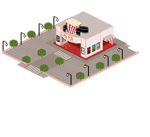 PixelArt Town Entry - Cinema by TheGalleryOfEve