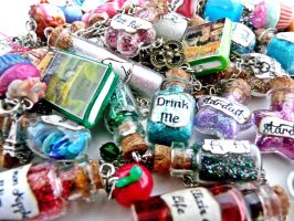 Bottle Charms and Polymer Clay Charms by PolymerClayMichelle