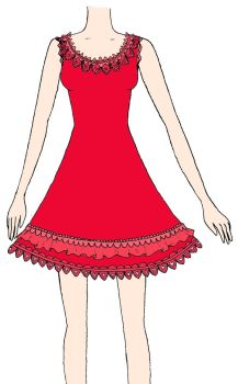 red dress by Insanity-Cake