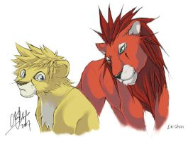 Collab: TLK - Akuroku LionZ by shadow-freak