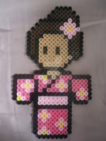 Cherry Blossom Themed Geisha by PerlerHime