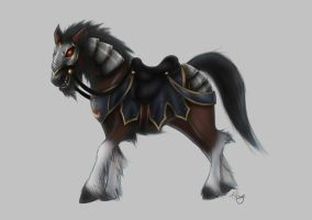 Worgen cursed Werehorse 2 by Trinamon