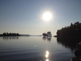 View from the jetty at our cabin. by jostark
