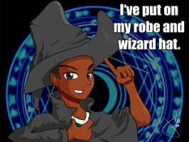 Andre, Robe and Wizard Hat by Cyberscythe