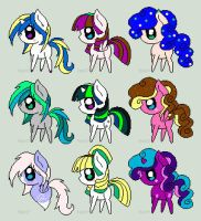 Pony point adopts! OPEN by Sherloock