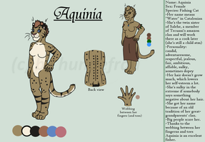 Ref sheet Aquinia by hundefrau
