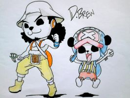 Ussop and Chopper #HappyPandaman by Dika-Brew