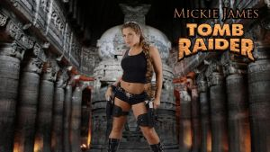 Mickie James Tomb Raider wp by SWFan1977