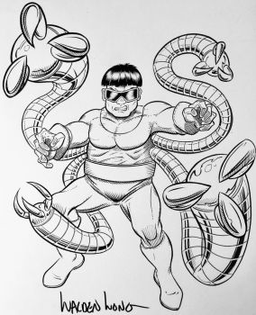 Inktober Day 28: Doctor Octopus by WaldenWong