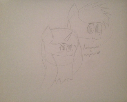 Andi and Tempest (draft) by Dizzeh89