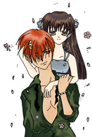 Kyo-kun and Tohru Coloured by lish-chan