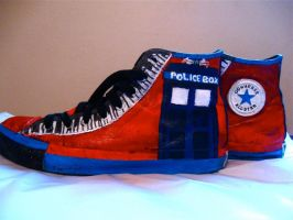 Doctor Who Shoes by zoinkscameron