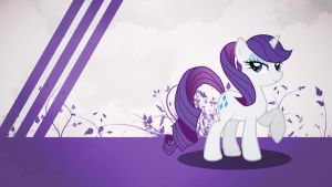 Rarity with a ponytail wallpaper minimalistic by Nidrax