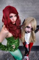 Poison Ivy and Harley Quinn by Nikkimomo