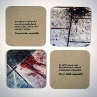 Binge drinking beer mats. by undividual