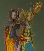 blood elves - high saturation by szienna