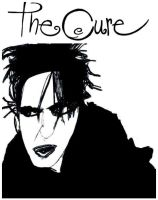 Robert Smith. The Cure by StevenEly