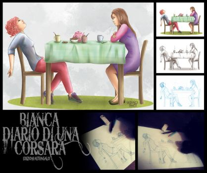 Bianca_ILLUSTRATION #1_ STEP BY STEP by vs-catonthemoon