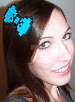 Perler Bead Hair Bow Clip by Viverra1