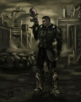 Comission - Gears of War- Blake with Making of by Psycuror