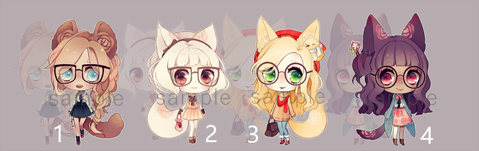 [1/4 OPEN] Adoptables: Rosary Glasses by Staccatos