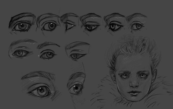 Eyes and face quick studies by sofmer