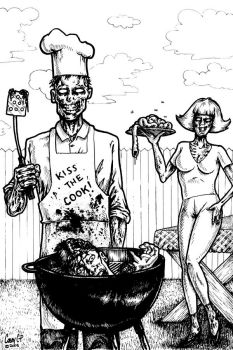 Zombie Family BBQ by artgeek5000