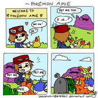 Pokemon Amie by theamazingwrabbit