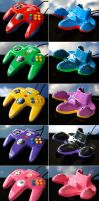 custom Mario Party N64 controllers by Zoki64