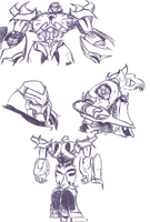 Megatron Sketches by just-nuts