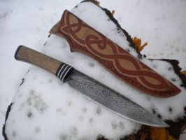 Damascus knife by hellize
