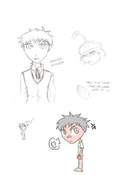 Persona 3- Akihiko sketches by Acinorev-Nat
