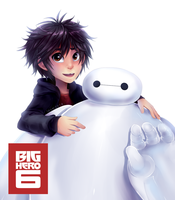 Hiro and Baymax - Big Hero 6 (Speed Paint) by LemonPoppySeedMuffin