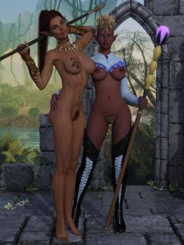 Mini-Adventures: Cleric and Barbarian 02-01 by Snapshotz3D