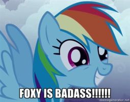 rainbow dash is happy for foxy by sonicandmariox