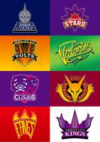Kanto Sports Team logos by Tal96