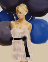 Balloon babe by DemetrPaints