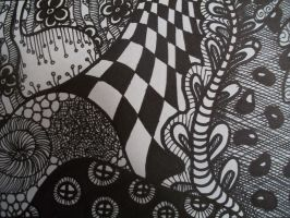 Zentangle 2 Detail 1 by SpicyMangoz
