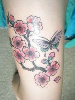 my cherry blossom tattoo by pauralotter14