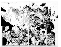secret invasion 3 pgs 4 and 5 by MarkMorales