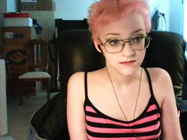 my hair is pink yay by sixtiesgrrrl