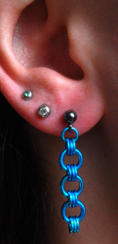Blue Japanese 6-2 Earrings by pre-heresyKharn