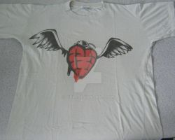 Flying heart grenade t-shirt by Gin85