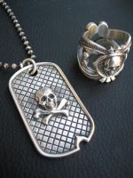 Deadmans ring and dog tag by flintlockprivateer