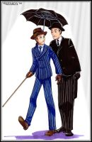Jeeves & Wooster: Umbrella <3 by vejiicakes