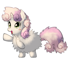 Fluffy Sweetie belle by Marenlicious