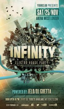 Electro House Party Flyer by cleanstroke