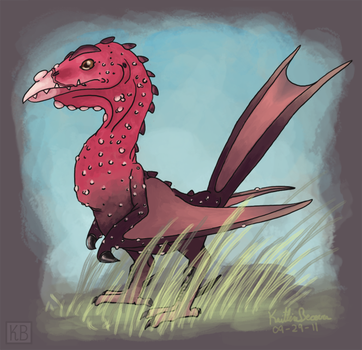 Reptilian Bird by Zalcoti
