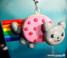 nyan cat poptar charm necklace by cutieexplosion