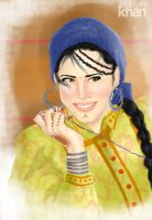 Sunheri Raet: Traditional Mirpuri/Pahari Dress by ArsalanKhanArtist